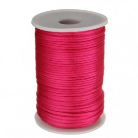 Snur satin fucsia rotund 3mm rola 80m