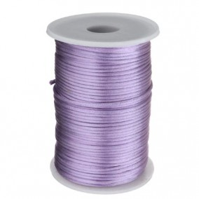 Snur satin lavanda rotund 3mm rola 80m