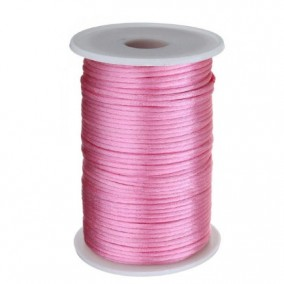Snur satin roz fondant rotund 3mm rola 80m
