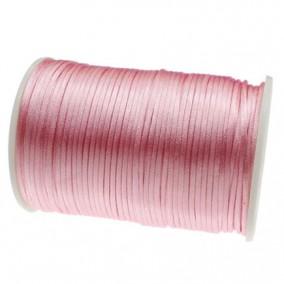 Snur satin roz liliac rotund 3mm rola 80m