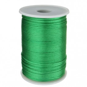 Snur satin verde iarba rotund 3mm (10m)