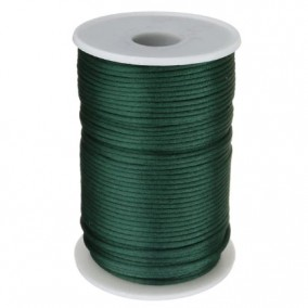 Snur satin verde inchis rotund 3mm (10m)