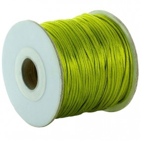 Snur satin verde oliv rotund 3mm (10m)