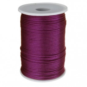 Snur satin violet rotund 3mm rola 80m