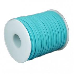 Snur elastic textil grosime 5mm bleu rola 20m