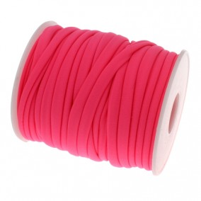 Snur elastic textil grosime 5mm fucsia rola 20m