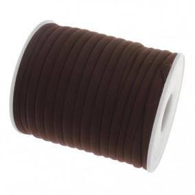 Snur elastic textil grosime 5mm maro rola 20m