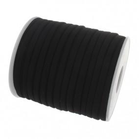 Snur elastic textil grosime 5mm negru rola 20m
