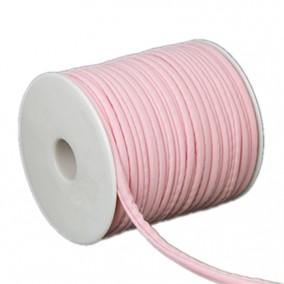 Snur elastic textil grosime 5mm roz rola 20m