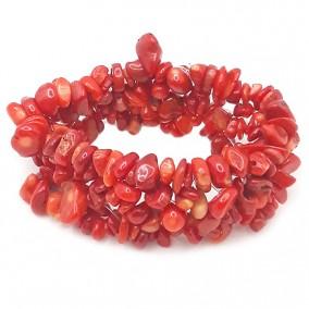Bratara chips coral rosu latime 25mm