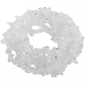 Cuart alb chips 5-8mm sirag 90cm