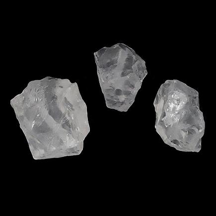 Margele cuart alb pietre chips neslefuit 20x15mm