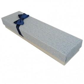 Cutie cadou bratara carton tapet funda albastra 18x5x3cm
