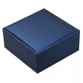 Cutie cadou bratara satin albastru 9x9x4cm