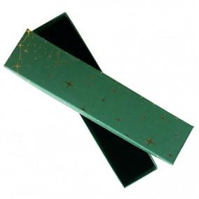 Cutie cadou bratara verde cu stelute aurii 20x4.5x2.5cm