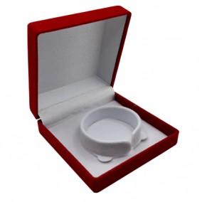 Cutie cadou catifea rosie pentru bratara 9x9x4cm