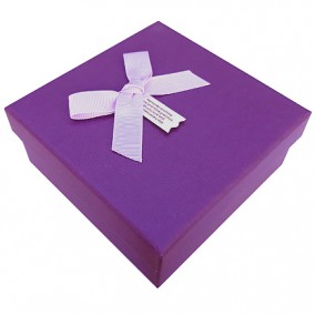 Cutie cadou fara burete purpuriu 13x13x5.5cm