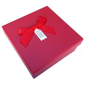 Cutie cadou fara burete rosu 13x13x5.5cm
