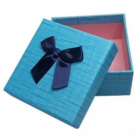 Cutie pentru cadou albastra 11x11x5cm