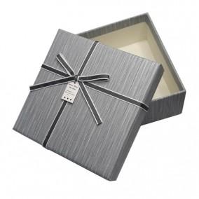 Cutie pentru cadou gri argintiu 13x13x5cm