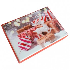 Cutie pentru cadou ornamente craciun 11x8x6cm