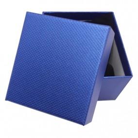 Cutie cadou bratara ceas albastru sidefat 9x8,5x5cm