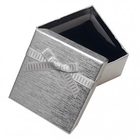 Cutie cadou bratara ceas argintiu metalizat 9x8,5x5cm