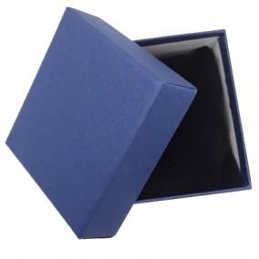 Cutie cadou bratara ceas carton mat albastru 9x8,5x5cm