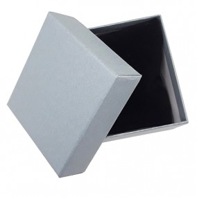 Cutie cadou bratara ceas carton mat gri 9x8,5x5cm
