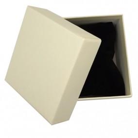 Cutie cadou bratara ceas carton mat ivoire 9x8,5x5cm