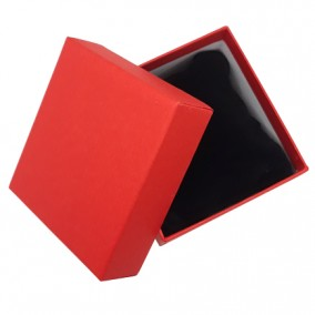 Cutie cadou bratara ceas carton mat rosu 9x8,5x5cm
