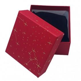 Cutie cadou bratara ceas rosie stele aurii 9x8,5x5cm