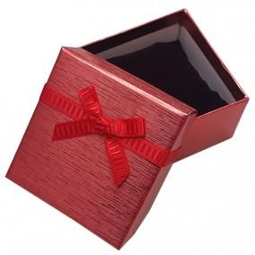 Cutie cadou bratara ceas rosu metalizat 9x8,5x5cm