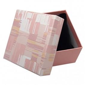 Cutie cadou bratara ceas roz pudra 9x8,5x5cm