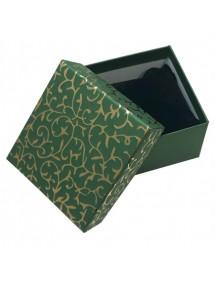 Cutie cadou bratara ceas verde decor auriu 9x8,5x5cm