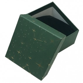 Cutie cadou bratara ceas verde stele aurii 9x8,5x5cm