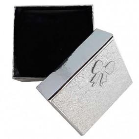 Cutie cadou ceas argintie 8x9x5cm