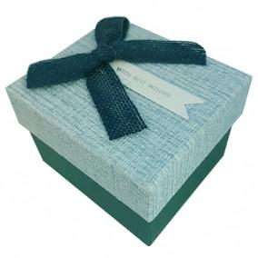 Cutie cadou ceas with best wishes funda bleumarin 9x8x6cm