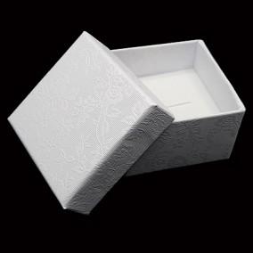 Cutie cadou inel alb flori 5x5x3.5cm