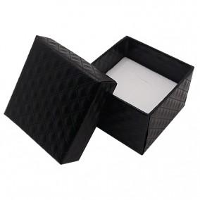 Cutie cadou inel carton lucios negru 5x5x3.5cm