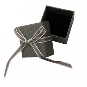Cutie cadou inel carton mat gri 5x5x3.5cm