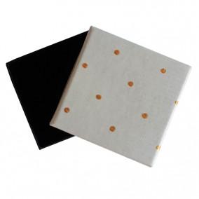 Cutie cadou inel cercei alba buline 5x5x3.5cm