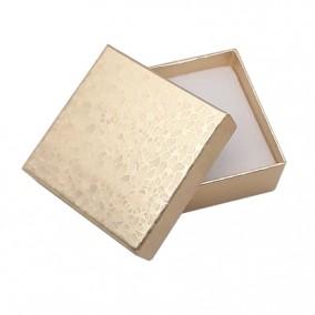 Cutie cadou inel cercei auriu marmorat 5x5x3,5cm