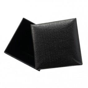 Cutie cadou inel cercei imitatie sarpe negru 5x5x3.5cm
