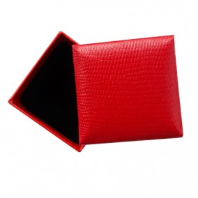 Cutie cadou inel cercei imitatie sarpe rosu 5x5x3.5cm