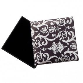 Cutie cadou inel cercei negru cu alb 5x5x3.5cm