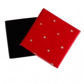 Cutie cadou inel cercei rosie buline 5x5x3.5cm