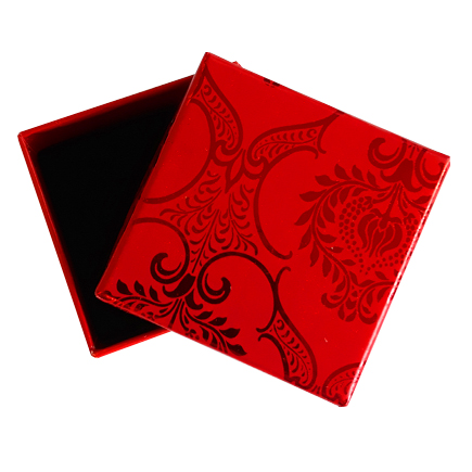 Cutie cadou inel cercei rosie decor rosu 5x5x3.5cm