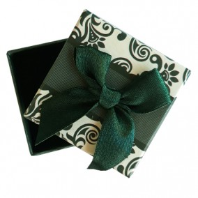 Cutie cadou inel cercei verde 5x5x3.5cm
