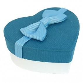 Cutie cadou inel inima bleumarin 7x6x3cm